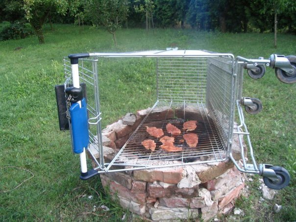 Redneck barbecue. .. i dont see anything but a pretty nice grill