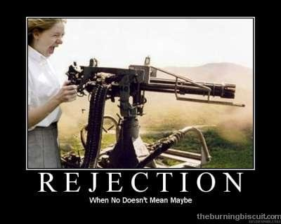Rejection. No PEDOBEAR no. No Dew. ' t Mean Maybe. Rejection - It fires off at 600 rounds per minute