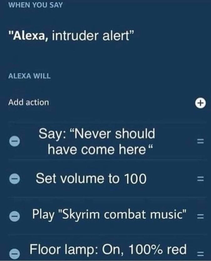 """RepostJunk. .. >be intruder >be intruding in some guy's house >suddenly loud voice yells """"NEVER SHOULD HAVE COME HERE!"""" >loud opera music starts playing"""