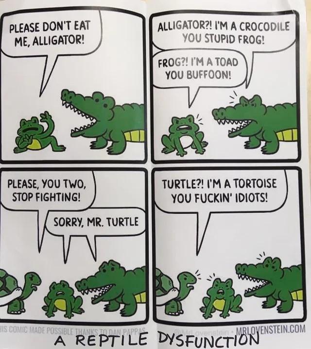 reptile. .. Reptile!? Frogs are amphibians!!