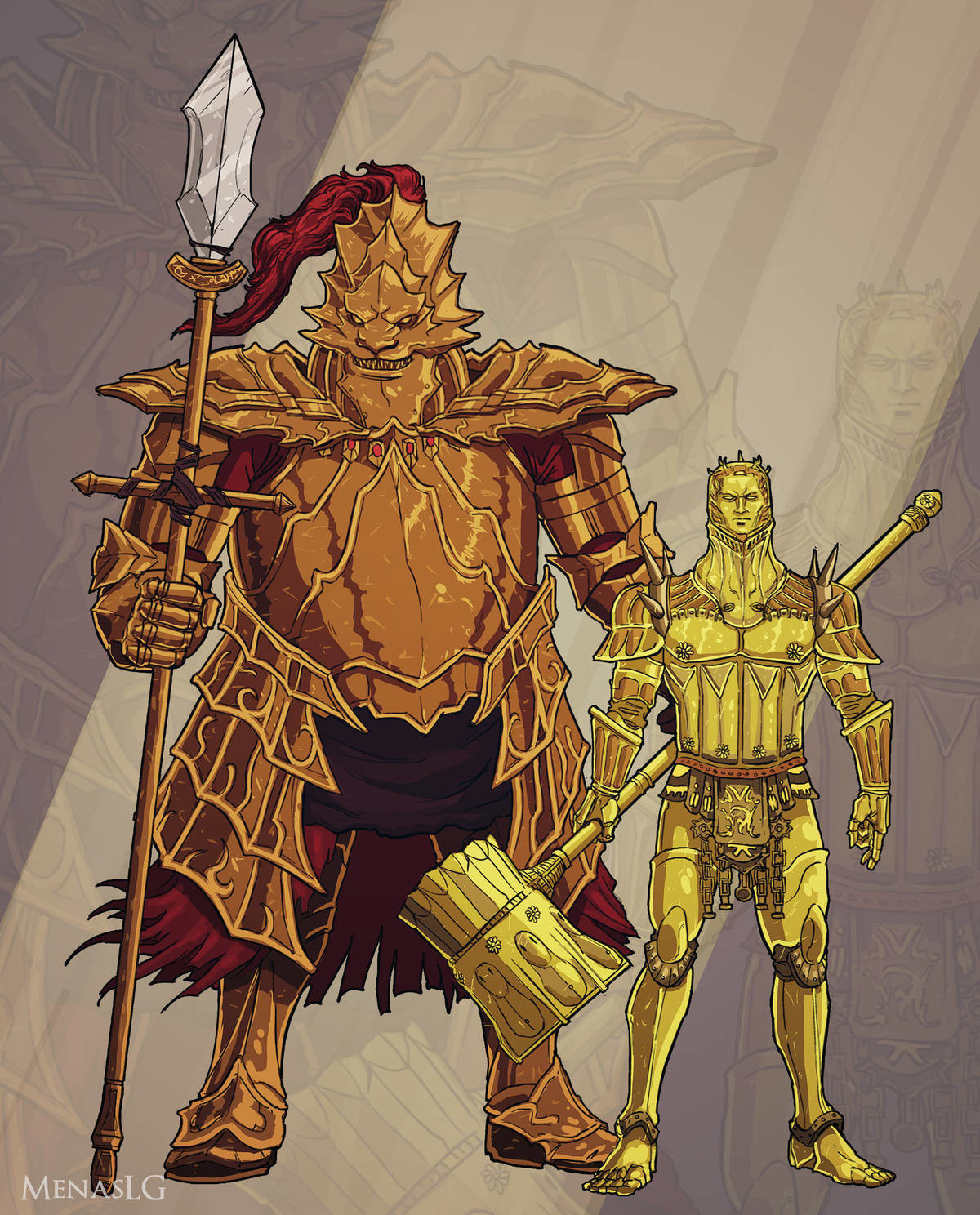 Reverse Ornstein and Smough. .. that smough is slightly intimidating