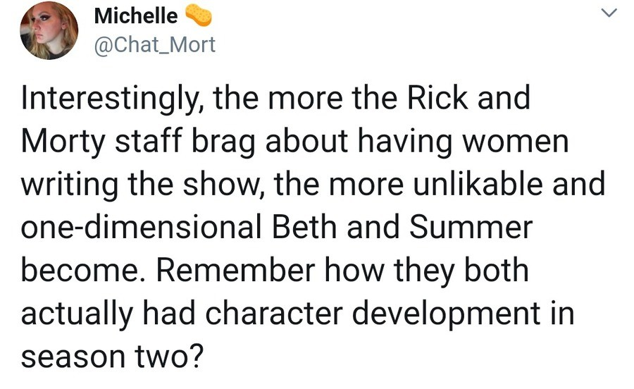 Richard and Mortimer. .. Back then, wasn't it just the original creators writing the show? When you've got multiple writers going on the same project, it tends to make the characters fe