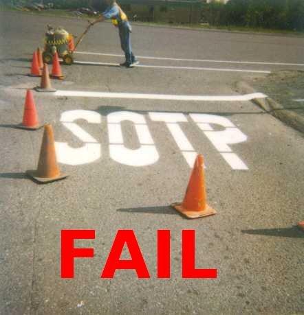 Road Contruction FAIL. Road Contruction fail.. Spelling fail!
