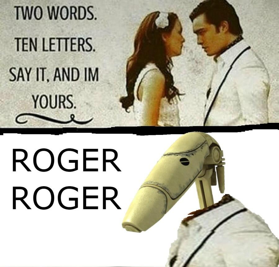 Roger Roger. . SAYIT. -. Gonk