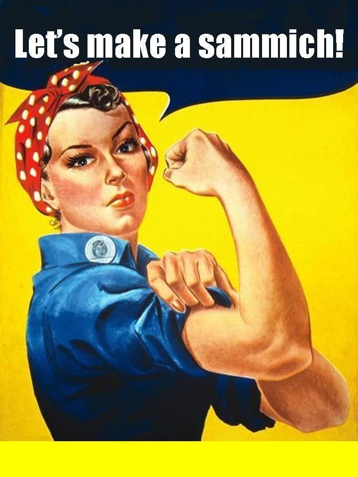 Rosie the sammich maker. Back when women were women.