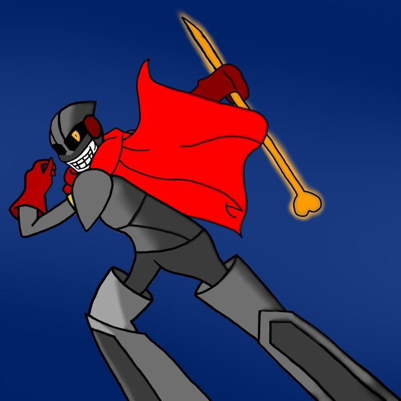 Royal guard Papyrus. Saw a comment saying we need more royal guard Papyrus,so i tried my best.. NICE!