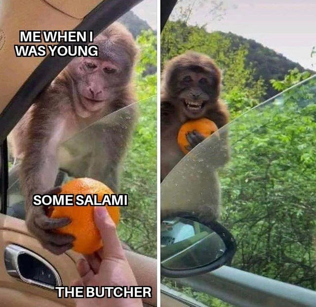 salami. .. Yea but I you loved the butcher's salami