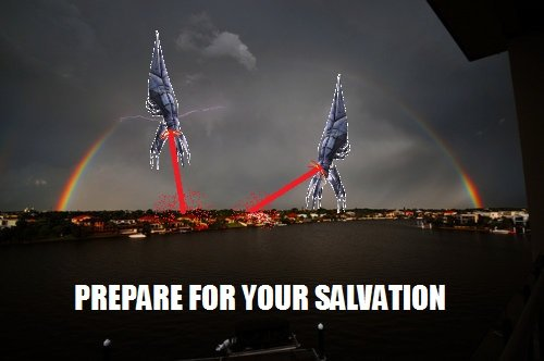 Salvation. Our numbers will darken the skies of every world. (MS Paint). PRIME! FOB YOUR SALVATION
