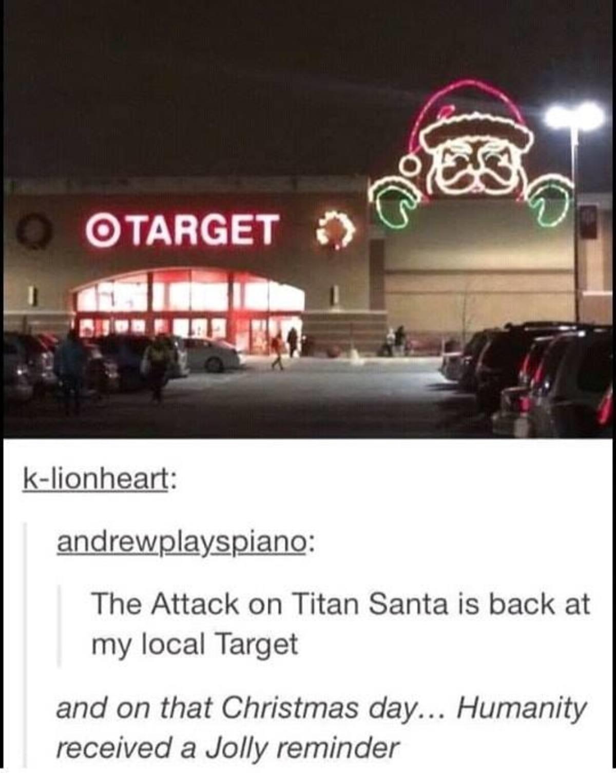 Santa. .. The war on Christmas has escalated
