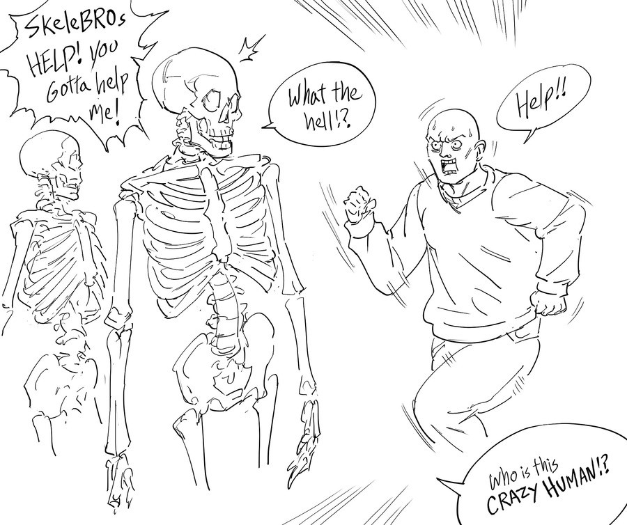 Save the Skeletons. .. Well That's horrifying
