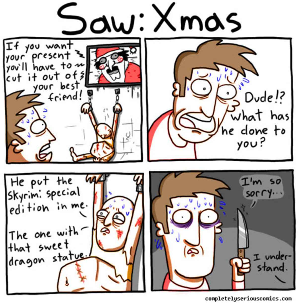 """SAW: Skyrim Edition"". .. wow haha, I love playing skyrim special edition, it's definitely still relevant now. IN FACT, YOU CAN SAVE 40% ON SKYRIM SPECIAL EDITION RIGHT NOW ON STEAM: htt"