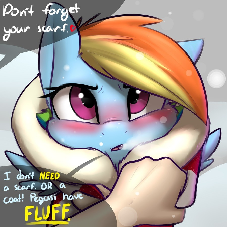 Scarf. .. OMG ANOTHER AMAZING CUTE DASHIE PIC!!!!!!!!! is there any pic where she is not cute?