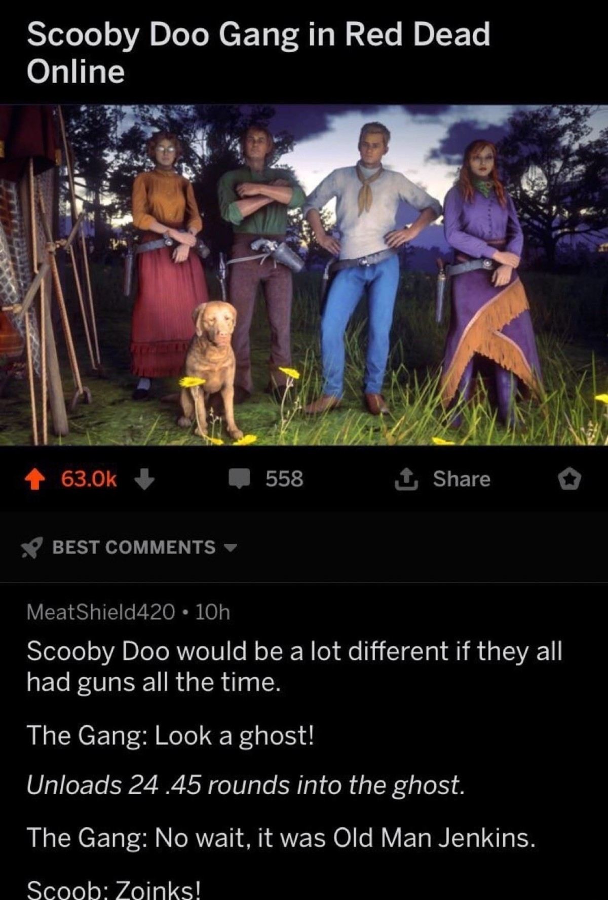 Scooby Doo. .. Scooby never said zoinks! REEEEE