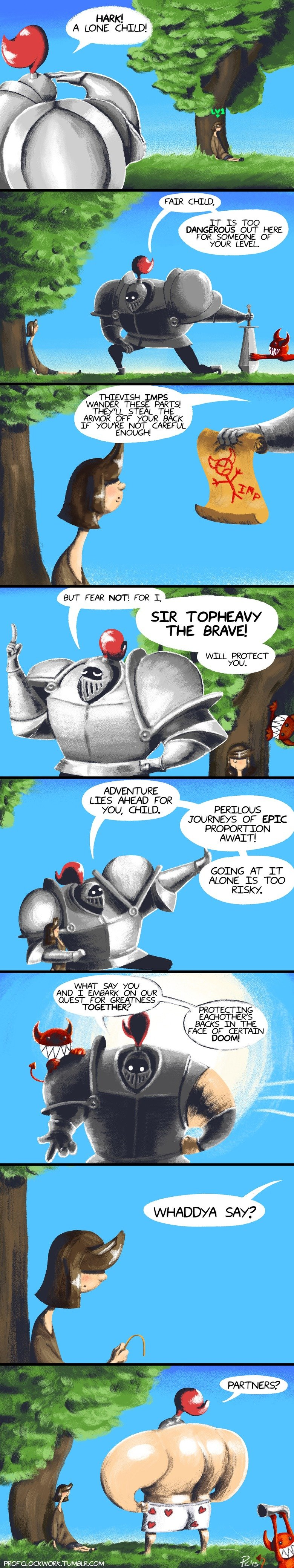 Scrap & Topheavy. Heroic Encounters Scrap & Topheavy is a new webcomic I have been working on for the past few weeks. See more of my over at: profclockwork.