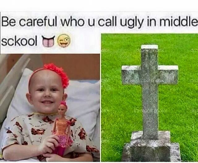 She Never Made it To Middle School. . trl:',!, careful ' I.,' can ugly in middl a sckool E [it. lili. made me breathe out of my nose slightly faster 10/10