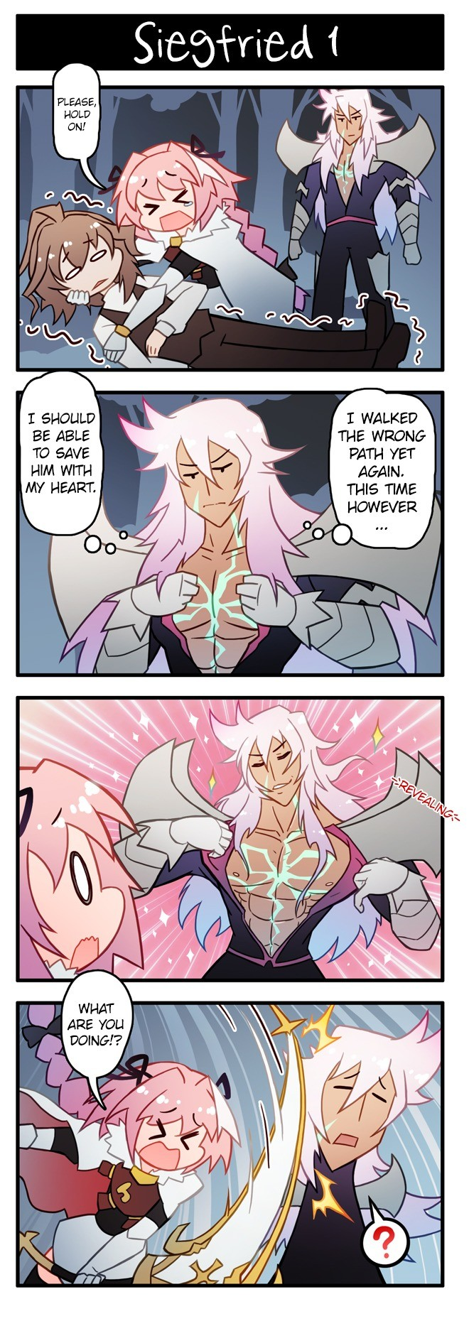 Siegfried and his deep dark fantasys. .. OI! only Astolfo can get his dick sucked by Sieg