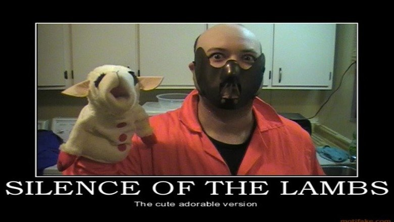 Silence Of The Lambchop. How Cute... sirr' Lac' : CDF' THE LL? Lev/ IERS The cute adorable version. My dog has almost the exact same toy except it isn't a puppet. Sorry for low res