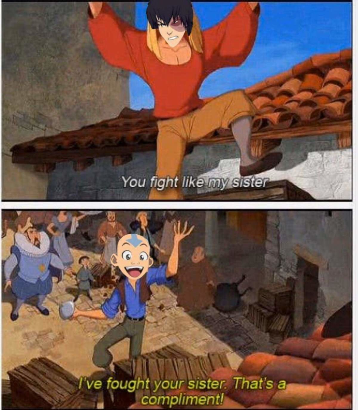 sister. .. Aang and Azula's styles could not be more diametrically opposed though.