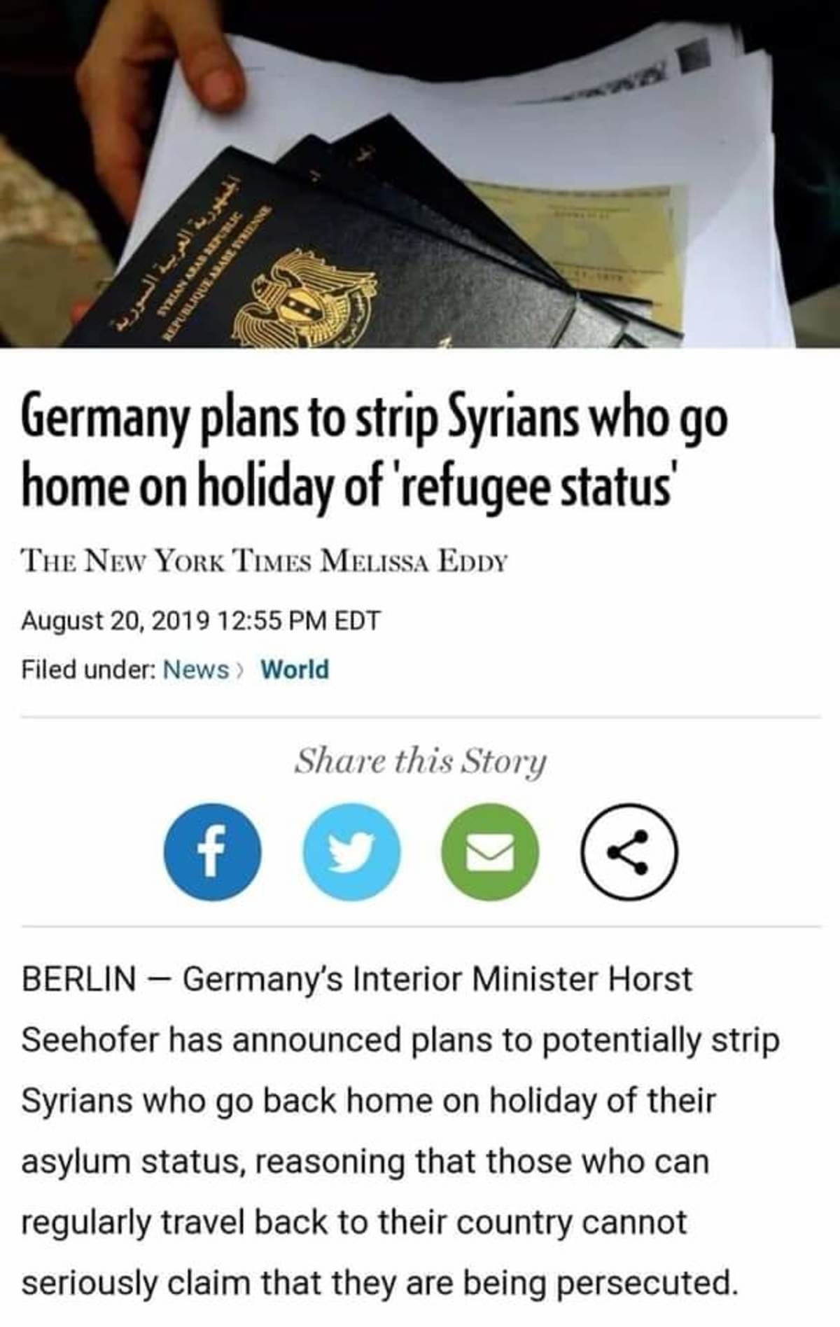 slow clap. This should be obvious.. It's almost as if none of them deserve refugee status