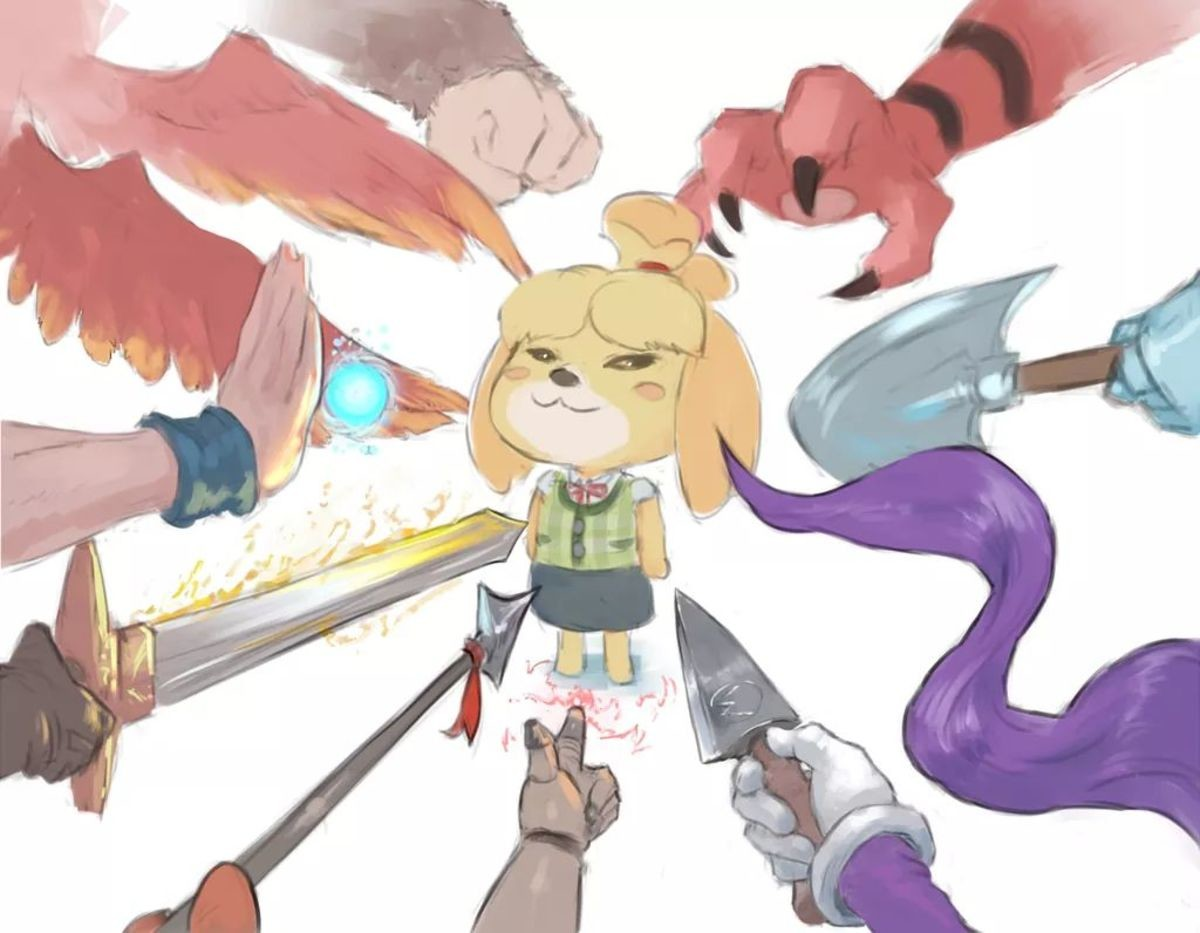 """Smug Isabelle Is In. join list: VidyaVirgins (609 subs)Mention History join list:. Me: """"I actually don't care about Smash or what happens in it."""" < The Smash community."""