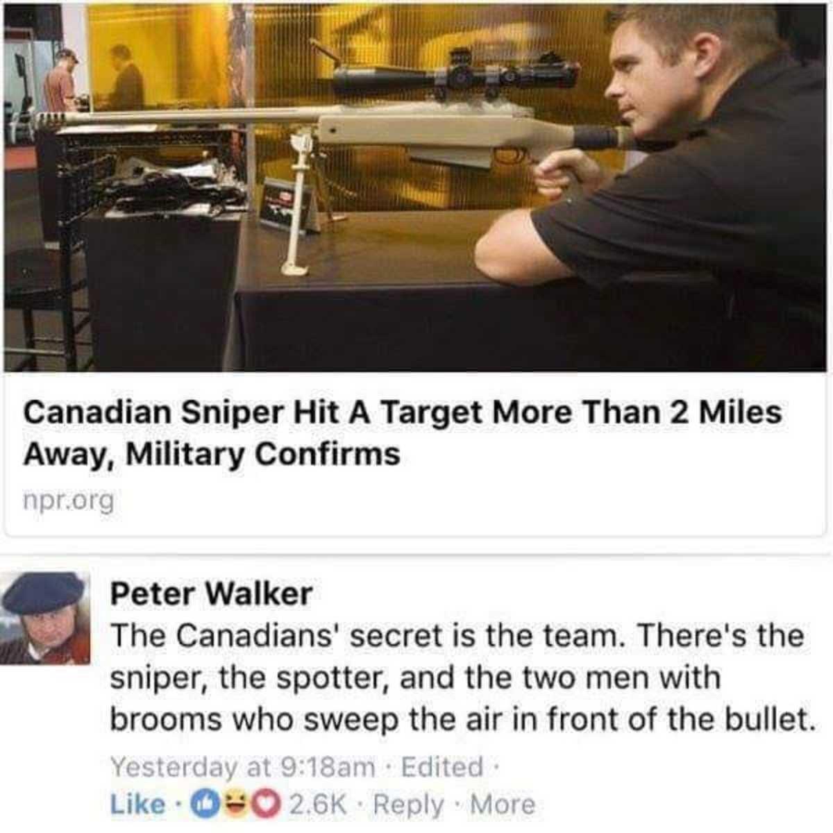 sniper. .. I love Curling.