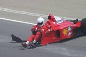 Something's missing. Frederico Kroymans in a 1999 Ferrari F399... Ivan stoles it!