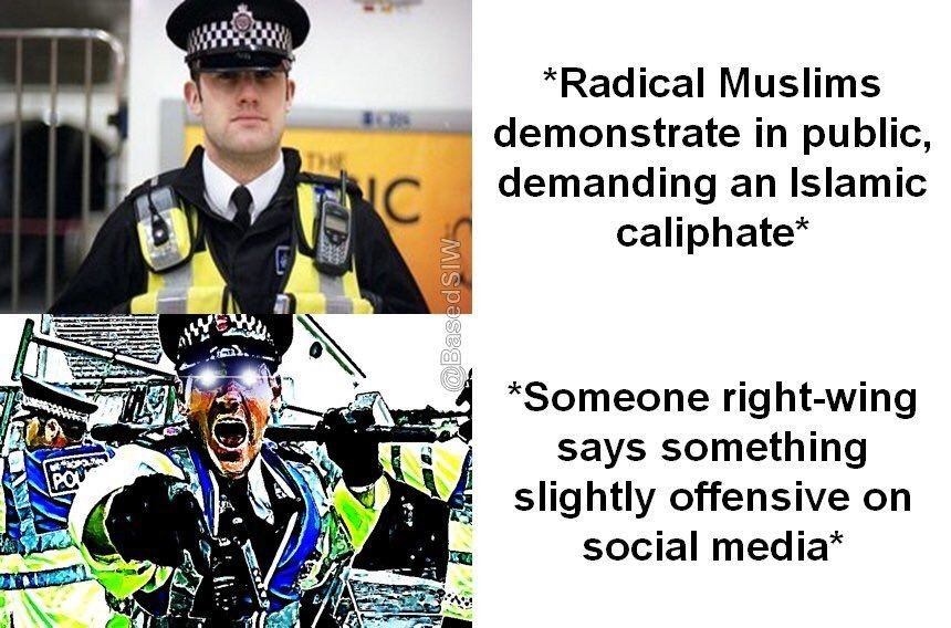 Sonerer Geasot Xabif. . Radical Muslims demonstrate in public, demanding an Islamic caliphate Someone rightyking says something slightly offensive on social med