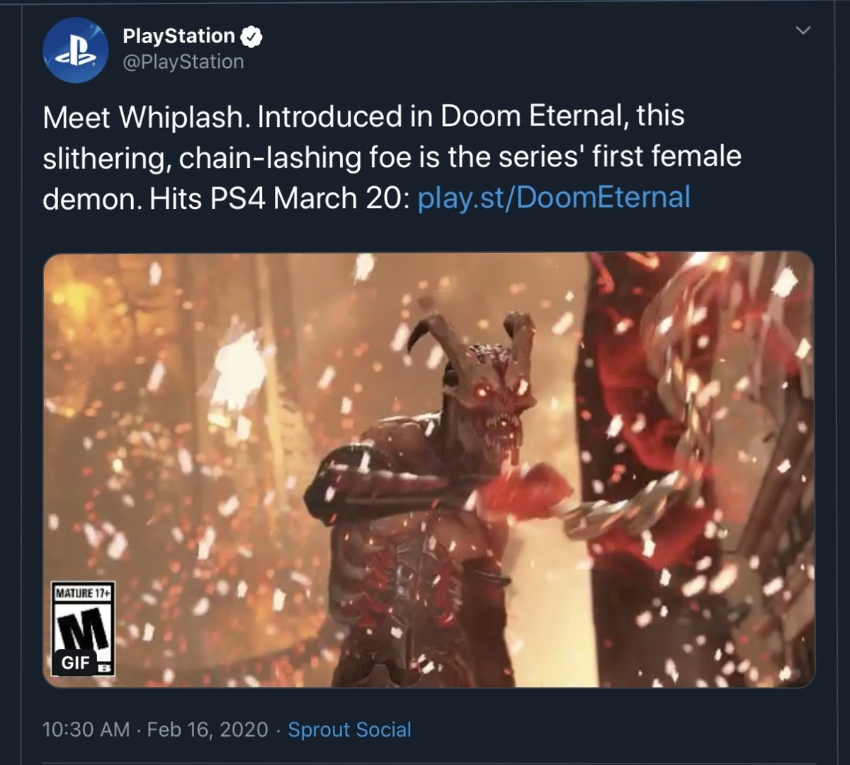 Sony is starving for attention. .. Demons don't sexually reproduce, what is the point of giving them gender if not to pander the SJWs these days