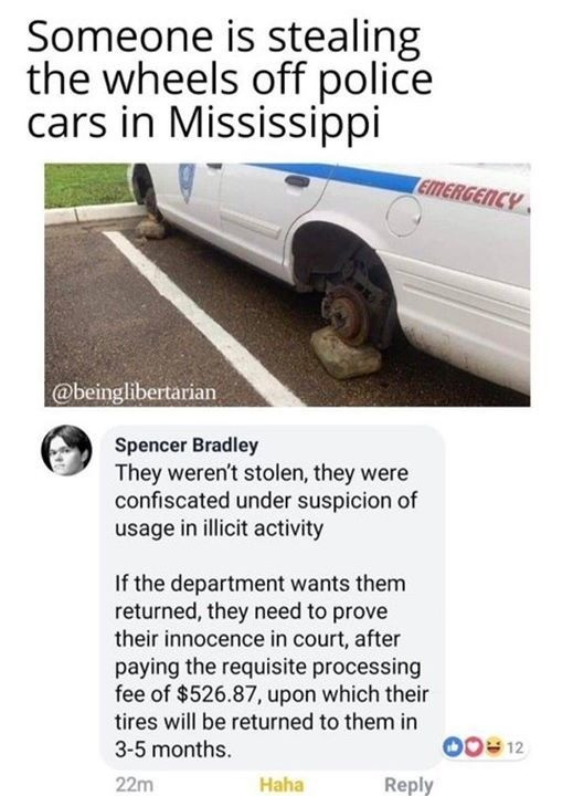 sordid xenophobic Elk. .. It's Mississippi so it's either ey yo man we finna get them tires sheet fuk dem policez OR well dangnabbit bubba where else we gon get new tires for the jeep at