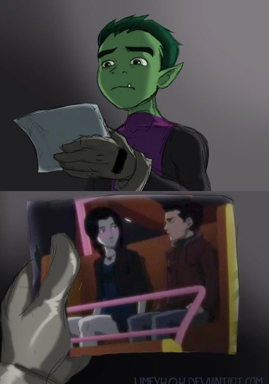 Sorry Beast Boy. Apparently DC will be shipping DamianXRaven hard in the upcoming JLA vs. Titans animated movie. They don't give two about the comic or animated