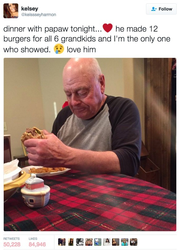 Soul Destroying. . Fallun dinner with peper he made 12 burgers fer all 5 s', ? l and I' m the anly ene whet chewed. if IJWE him. like this makes me happy that none of my siblings or cousins would get away with treating our grandparents like that.