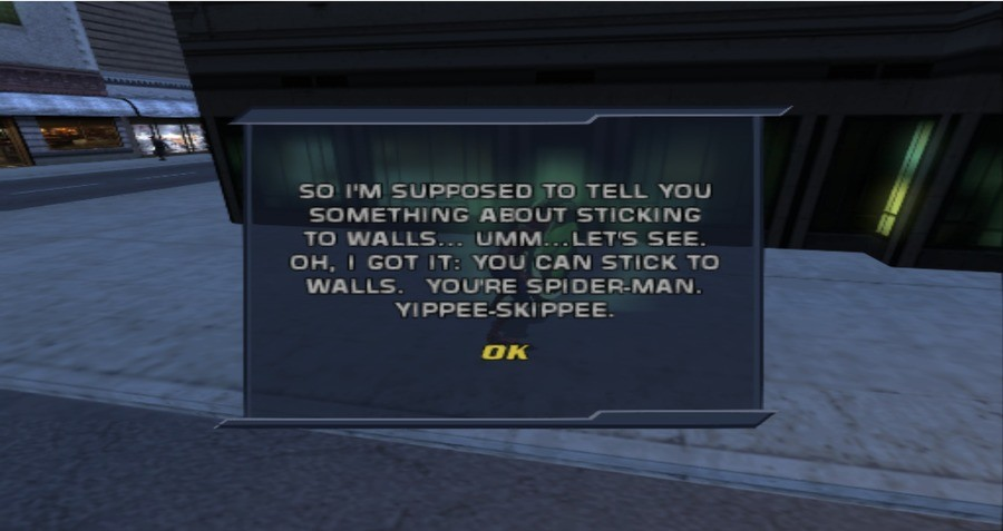 Spiderman 2 had such useful hints. join list: VideoGameHumor (1708 subs)Mention Clicks: 593088Msgs Sent: 5751927Mention History. t'' trr STICKING OH. t GOT IT: