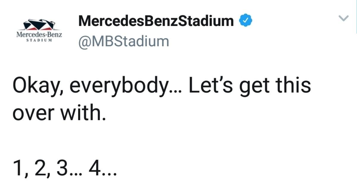 Stadium. .. When even the damn stadium has more common sense then the NFL