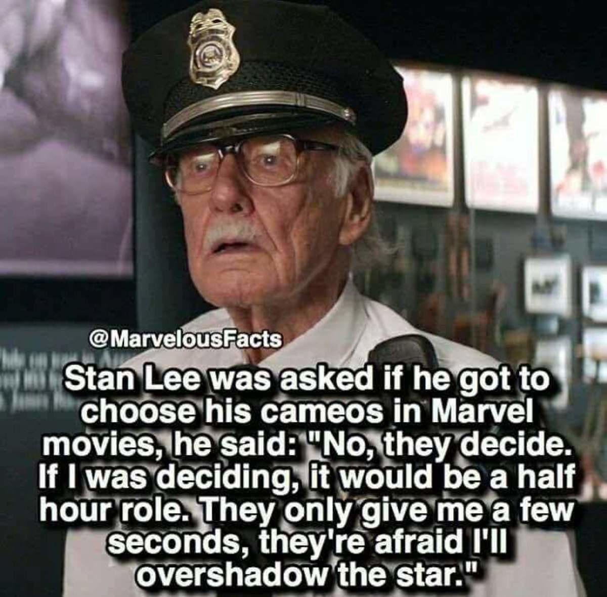"""stan lee. . l ' t' in Marvel dlshadow'_ theԤ tar.""""_ would tits a half , Ill. I'm hoping he gets a bigger role in Deadpool 2 just to with people who keep complaining about his cameos. That and so we give the poor guy more time around the"""