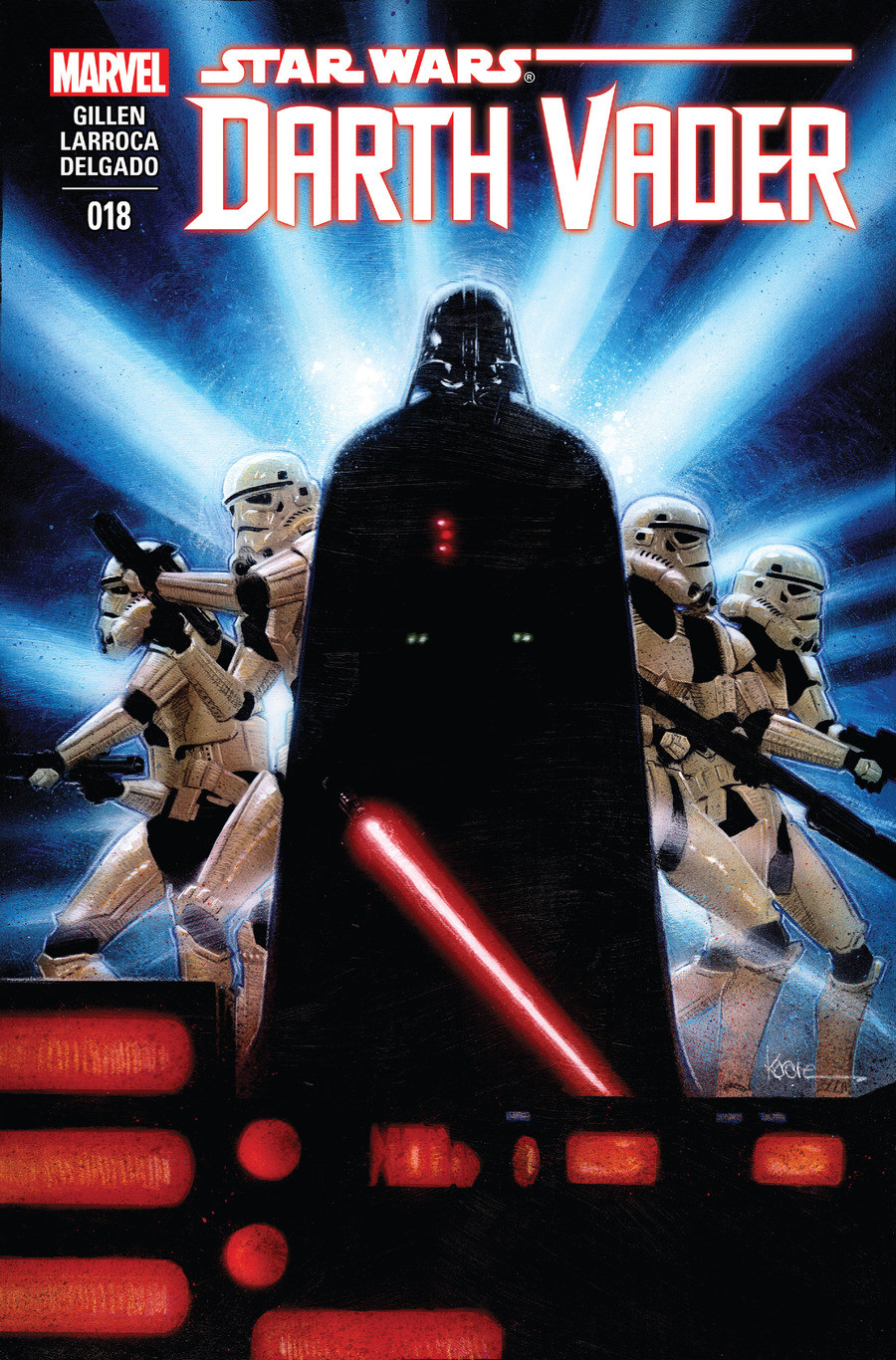 Star Wars Darth Vader issue 18. Click the links for the first 3 issues of this comic, and the mentions list mention history for the rest Issue1: issue 2: Issue3