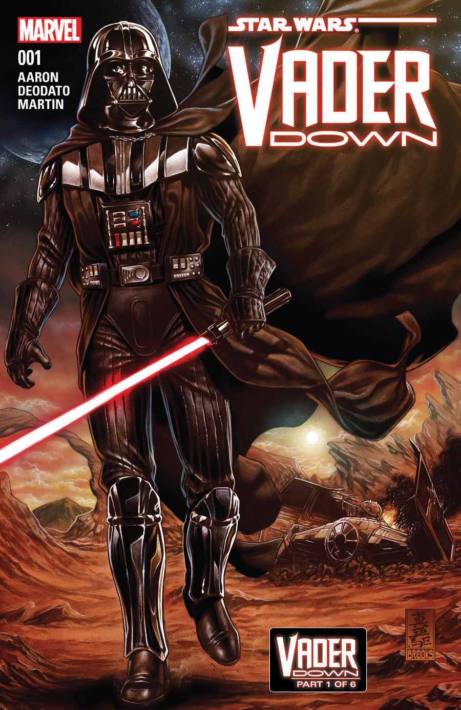 Star Wars Darth Vader: Vader Down. And here it is, Vader Down, some great stuff happens in this comic arc. Click the lists mention history and these three links