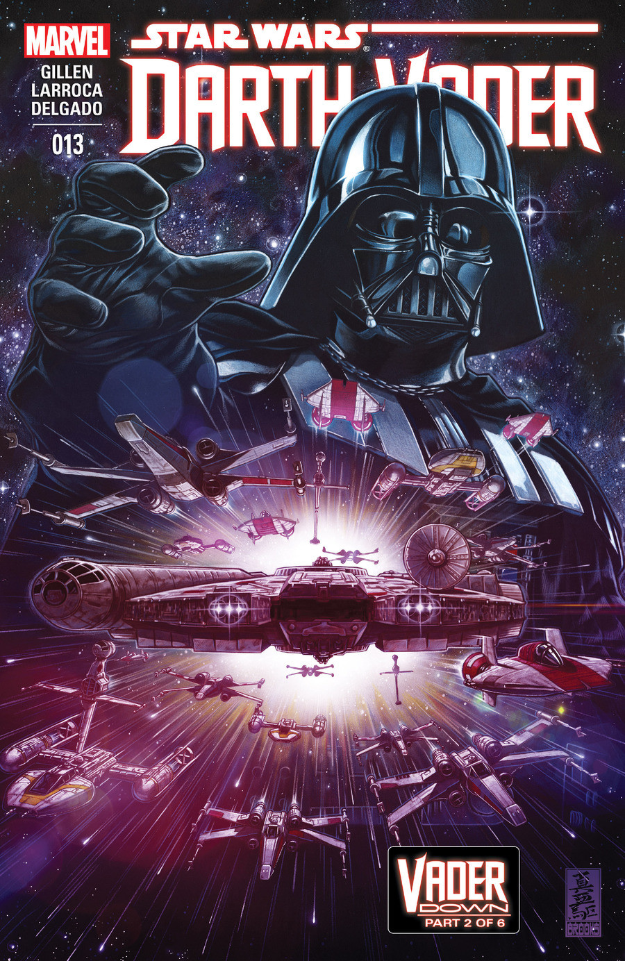 Star Wars Vader Down part 2. Vader Down part 2, and issue 13 of the Darth Vader comic series Click the lists mention history and these three links for every pre