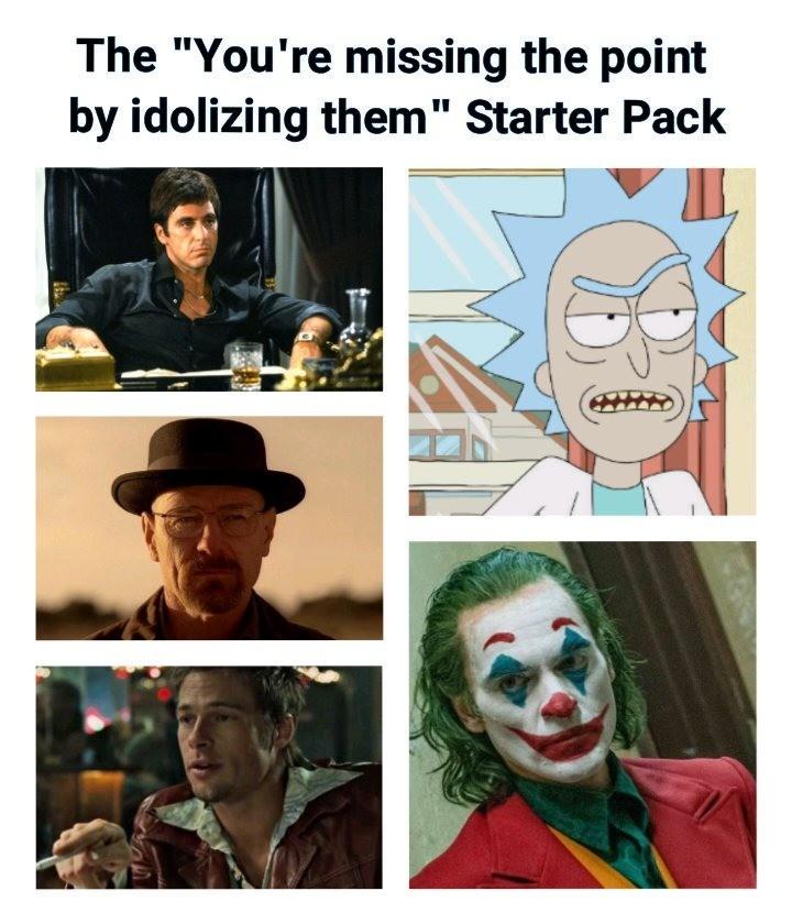 starter. .. I don't idolize, I sympathize.
