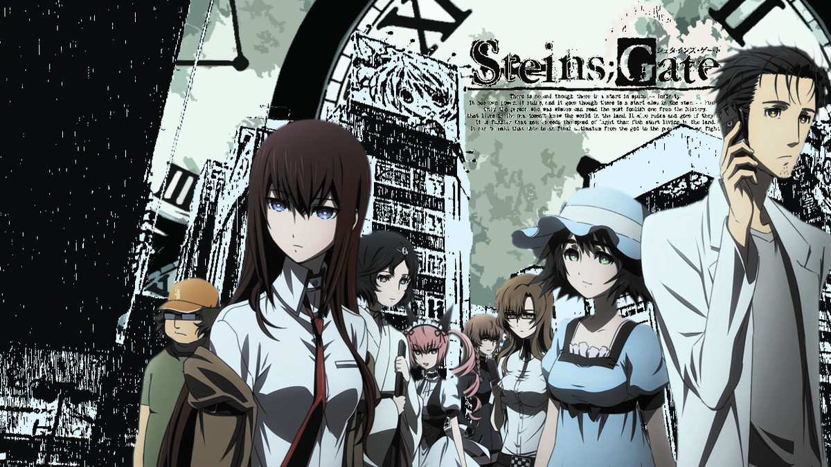 Steins;Gate ysis. Basic Synopsis: Based on a visual novel which can be purchased on Steeam, Steins;Gate is a show about a bunch of really nerdy guys in the crap