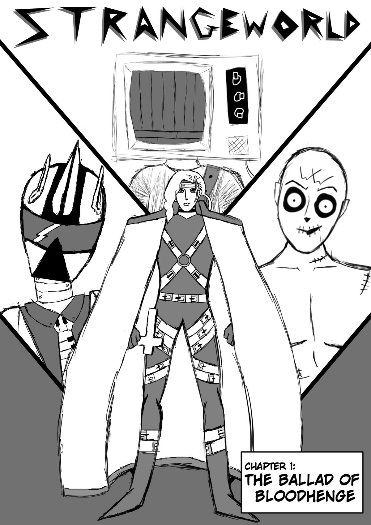 StrangeWorld Intro! Chapter 1: The Ballad of Bloodhenge. Hey everyone! My name's Tom, and this is my little comic, StrangeWorld! I started this project around a