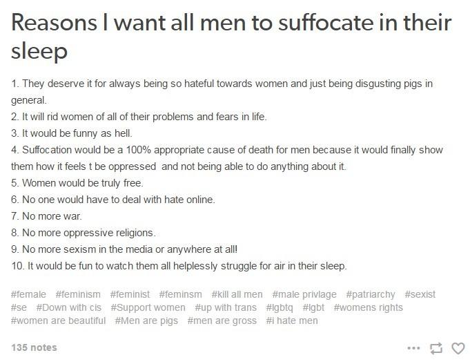 reasons to hate men