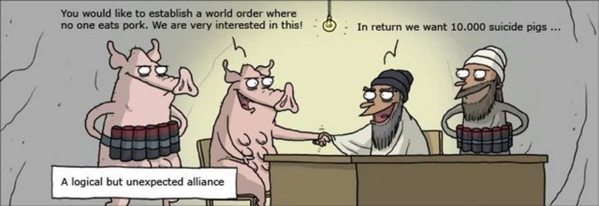 suicide pigs. . A logical but unexpected alliance. they wouldnt negotiate with filthy animals like that