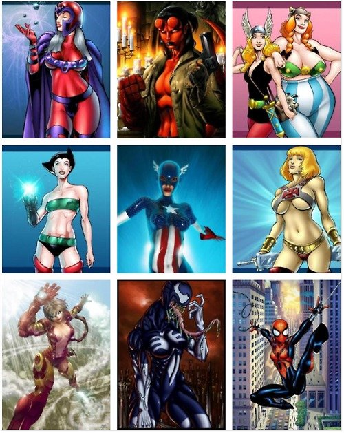 Superheroes Women Versions. .. Guess you could say female Magneto is very attractive