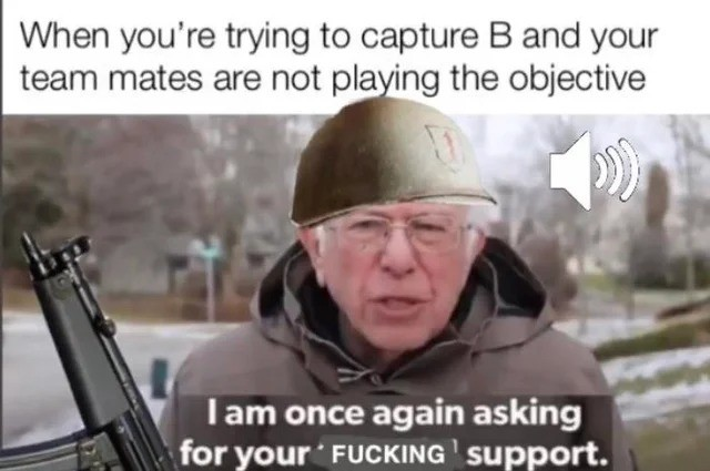 support. .. One of the funniest games I have ever had is in Battlefield 1942, playing as the Germans in Berlin. We somehow managed to instantly push the soviets back and bl