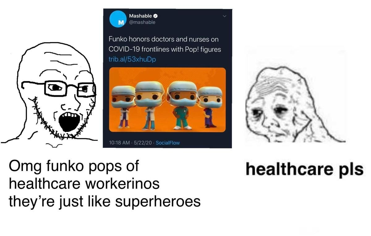 symptomatic hateful Ant. .. It's fine everyone gets healthcare from their employers. Wait... Oops.