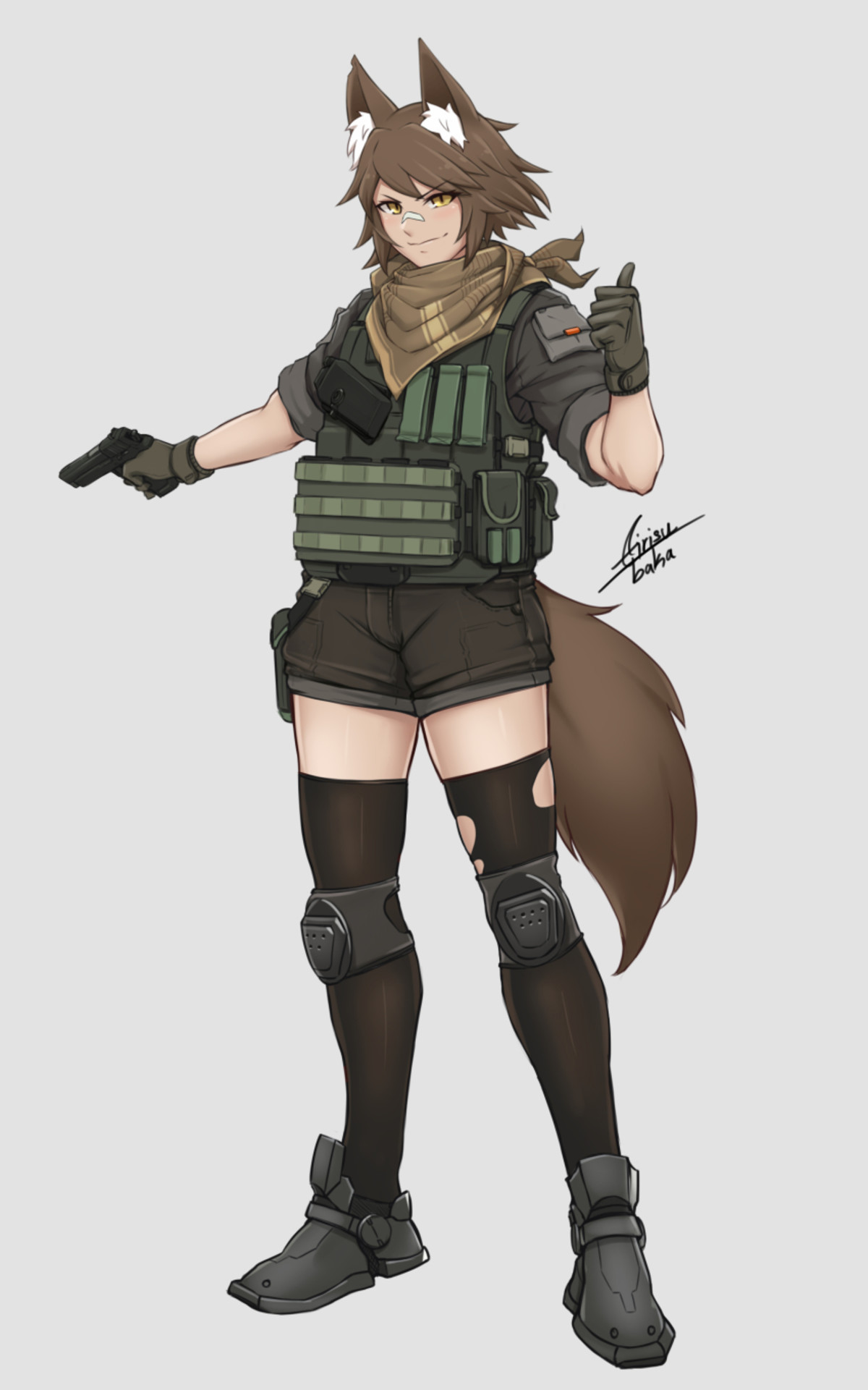 Tactical Woof. https://www.pixiv.net/member.php?id=10701161 Since I thought of it later, Tactic-awoo-l.. Posted this on another post, but I feel if we're talking about tactical woofs, then it should apply here as well. Sauce is Lycan Operators - Robert Chew