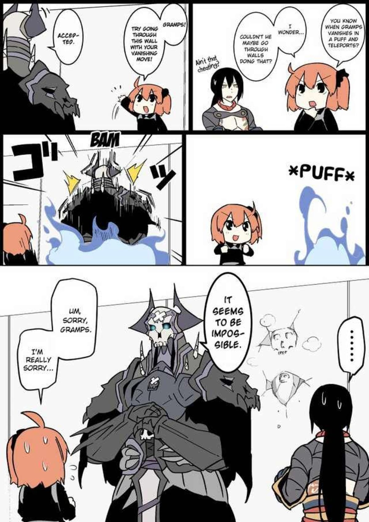 Teleportation. join list: WeLoveGramps (795 subs)Mention History.. I guess that implies that he doesn't teleport, but rather, he goes invisible and moves really fast.