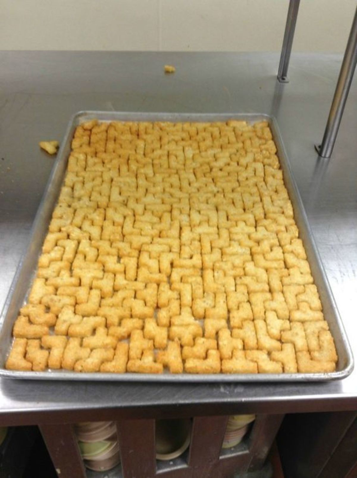 Tetris Tots. .. oh god you summoned him...