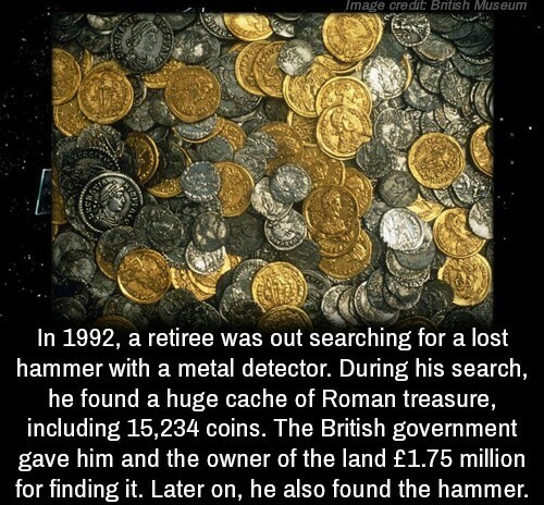 Thank God. .. Yeah yeah, so he found treasure and they got s bunch British currency, big whoop. Thank he found his hammer