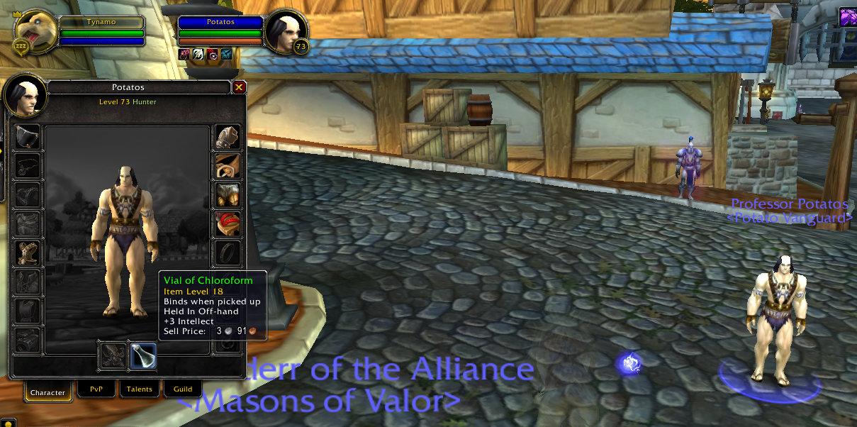 The people do on WoW amuse me so. So I was walking through Stormwind on WoW, when I come across this man. I was perterbed at his appearance and walked closer, a